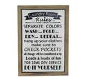17 x 23-Inch Wood & Metal Laundry Room Rules Sign
