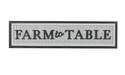 44-1/2 x 11-Inch Farm To Table Metal Wall Sign