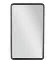 23-1/2 x 39-1/2-Inch Black Metal Wall Mirror