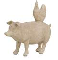 8 x 8-Inch Pig & Hen Stacking Animals Polystone Statue