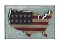 36 x 24-Inch Wood & Metal United States Flag Wall Decor