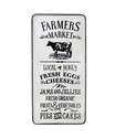 15 x 29-Inch Black & White Farmers Market Metal Sign