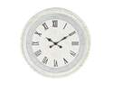 22-Inch Round White Wood Wall Clock