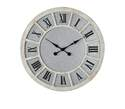 37-Inch Round Wood & Galvanized Metal Wall Clock
