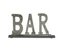 15 x 8-Inch Aluminum & Granite Bar Table Decor