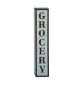 7 x 36-Inch Metal Grocery Wall Sign
