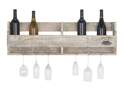 36 x 11-Inch Wooden Wine And Wine Glass Holder