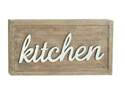 24 x 12-Inch Wood & Metal Kitchen Sign