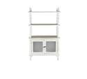 31 x 53-Inch White Wood & Glass Cabinet