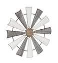 31-Inch Industrial Pinwheel Metal Wall Decor