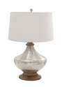 28-Inch Glass Wood Table Lamp