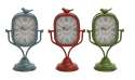 9 x 15-Inch Metal Table Clock