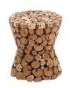15 x 17-Inch Wood Teak Stool