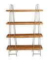 43 x 65-Inch Wood And Metal -Tier Shelf