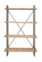 48 x 79-Inch Metal And Wood Shelf