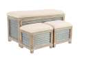 38 X 16-Inch Wood And Metal Storage Bench
