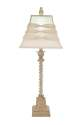 32-Inch Polystone Glass Table Lamp