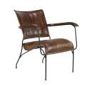 29 x 26-Inch Leather And Iron Chair