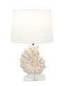 24-Inch Polystone Glass Sea Snail Table Lamp