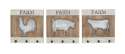 16-Inch Metal And Wood Wall Hooks