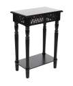 18 x 27-Inch Black Wood Side Table
