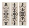 36 x 12-Inch Wood And Metal Decor