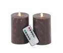 6 x 3-Inch LED Flicker Candle, Set Of 2