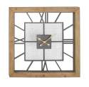 39 x 39-Inch Wood And Metal Square Wall Clock