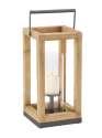 9 x 18-Inch Wood Metal And Glass Lantern