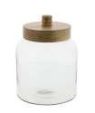 7 x 10-Inch Glass Wood Jar