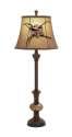 32-Inch Polystone Glass Ball Buffet Lamp