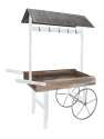 60 x 75-Inch Wood Flower Cart