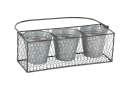 17 x 14-Inch Metal Planter Basket