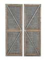 Metal And Wood Door Panel, Set Of 2