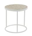 Round Metal & Wood Nesting Table, 16-Inch