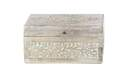 Ornate Carved Wooden Box, 10-Inch