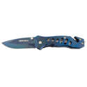 Spring-Assisted Blue Feather Knife