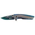 Silver-Blue Spring-Assisted Big Sky Knife