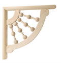 Small Ball And Dowel Decorative Bracket
