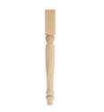 21-1/4-Inch Country Pine Table Leg