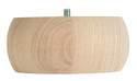 5-Inch Round Pine Furniture-Ready Bun Foot