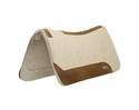 33 x 32-Inch Contoured Wool Blend Felt Saddle Pad