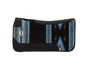 31 x 32-Inch Black & Blue Contoured Single Weave Wool Blend Felt Saddle Pad