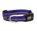 Small Dark Blue Reflective Snap-N-Go Adjustable Nylon Dog Collar
