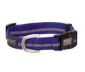 Medium Dark Blue Reflective Snap-N-Go Adjustable Nylon Dog Collar