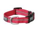 Medium Salmon Reflective Snap-N-Go Adjustable Nylon Dog Collar