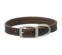 3/4 x 17-Inch Bridle Blue Leather Dog Collar