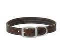 1 x 21-Inch Bridle Blue Leather Dog Collar