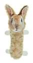Fur Realz Small Bunny Tubular Squeaker Pals Plush Dog Toy