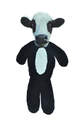 Fur Realz Cow Full Body Flattie Plush Dog Toy